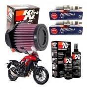 Filtro de Ar K&N CB 500X CB500X K N Vela Iridium Kit Limpeza
