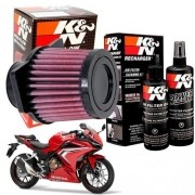 Filtro de Ar K&N CBR 500R CBR500R 500 R K N + Kit Limpeza