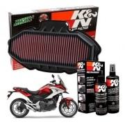 Filtro de Ar K&N NC700X NC 700X NC700 700 x + Kit de Limpeza
