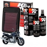 Filtro de Ar K&N Suzuki Bandit 1250 Esportivo + Kit Limpeza