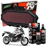 Filtro de Ar K&N NC750X NC 750X NC750 750 x + Kit de Limpeza