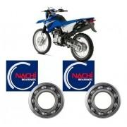 Jogo De Rolamento Roda Traseira Lander 250 Nachi 6302 + 6202