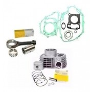 Kit Cilindro Biela Motor Fan Titan 150 Bros Metal Leve Junta