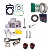 Kit Cilindro Motor Biela Rolamentos Junta Cg Titan 150 Fan Bros