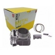 Kit Cilindro Motor Fazer Tenere 250 Pistão Anéis Metal Leve