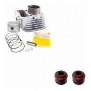 Kit Cilindro Motor Titan 125 83/99 1999 Metal Leve + Retentores