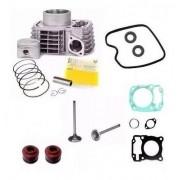 Kit Cilindro Titan 150 Fan Bros Juntas Motor Retentores Valvulas