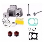 Kit Cilindro Titan 150 Fan Bros Motor Pistao Retentores Valvulas