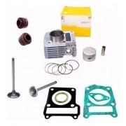Kit Cilindro Ybr 125 Xtz 125 Factor 125 Juntas Válvulas Metal Leve