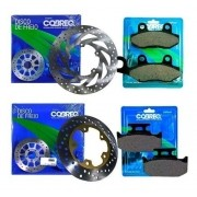 Kit Disco de Freio + Pastilha Lander 250 até 2015 Cobreq