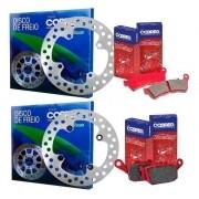 Kit Disco de Freio + Pastilha Xre 300 Com ABS Cobreq Original