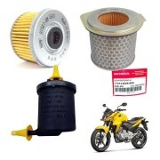 Kit Filtro de Ar Óleo Combustível CB 300 flex 13/15 Original Honda