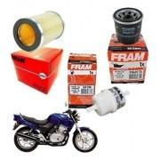 Kit Filtro de Ar Oleo Combustível gasolina CB 500 1997-2005 Fram