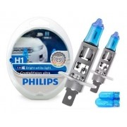 Kit Lâmpada Philips Super Branca Crystal Vision H1 4100k 55w