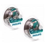 Kit Lampadas Philips H4 + H1 Xtreme Vision 130% Mais Luz 3700k