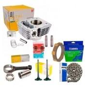 Kit Motor Bros150 Biela Valvulas Corrente Discos Embreagem