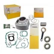 Kit Motor Titan 160 Fan Bros Biela Rolamentos Metal Leve