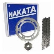 Kit Relação Bros 125 Tração Transmissão Nakata Aço 1045