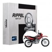 Kit Relação Bros 150 Com Retentor Riffel Tração Transmissão