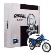 Kit Relação Bros 160 Com Retentor Riffel Tração Transmissão