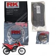 Kit Relação Bros 160 Com Retentor RK Tração Transmissão