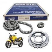 Kit Relação CB 300 Com Retentor Nakata Tração Transmissão