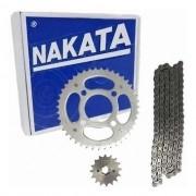 Kit Relação Titan  150 Tração Transmissão Fan 150 Nakata