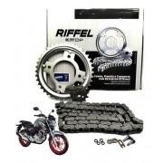 Kit Relação Tração CB 250F Twister Todas Com Retentor Riffel
