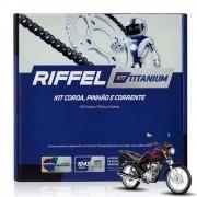 Kit Relação Tração CG Fan 125 Titan 125 2009 até 2013 Riffel