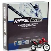 Kit Relação Tração NXR Bros 150 c/ Retentor Riffel