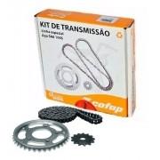 Kit Relação Tração Transmissão CBX 250 Twister Cofap Aço 1045