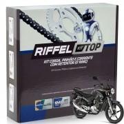 Kit Relação Tração Ybr 125 Factor 125 Riffel Com Retentor