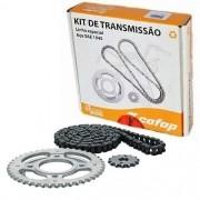 Kit Relação Transmissão Tração Biz 100 98/06 Cofap Aço 1045