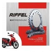 Kit Relação Transmissão Tração Biz 125 Riffel Premium