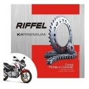 Kit Relação Transmissão Tração CB 300 CB300 Riffel Premium
