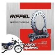 Kit Relação Transmissão Tração CG Titan 1976 até 1999 Riffel Premium