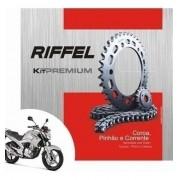 Kit Relação Transmissão Tração Fazer 250 Riffel Premium