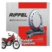 Kit Relação Transmissão Tração NX 400 Falcon Riffel Premium
