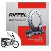Kit Relação Transmissão Tração Pop 100 Riffel Premium