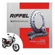 Kit Relação Transmissão Tração Titan 150 Fan 150 Riffel Premium