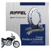 Kit Relação Transmissão Tração Twister CBX 250 Riffel Aço 1045