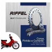 Kit Relação Transmissão Tração Web 100 Riffel Aço 1045