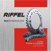 Kit Relação Transmissão Tração XTZ 125 Riffel Premium