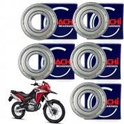 Kit Rolamento de Roda XRE 300 Todas Nachi Original