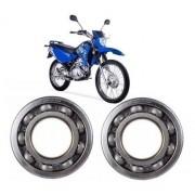 Kit Rolamento Roda Traseira Xtz 125 Nachi 6302+6202 Original