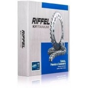 Kit Tração Relação Transmissão Nxr Bros 150 Riffel Aço 1045