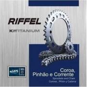 Kit Tração Relação Transmissão Ys 250 Fazer Riffel Aço 1045