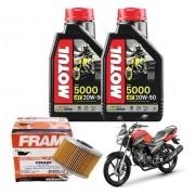 Kit Troca de Óleo Factor 150 Filtro Fram Óleo 5000 20W50