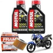Kit Troca de Óleo Fazer 150 Filtro Fram Óleo 5000 20W50