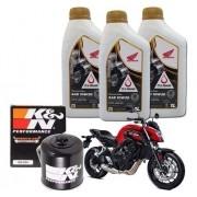 Kit Troca Oleo CB 650F Filtro K N Kn Óleo 10w30